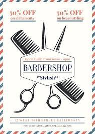 barber shop poster for sale template fotojet