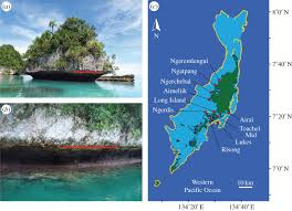 Palau Map Keep Up Or Drown Adjustment Of Western Pacific Coral Reefs To Sea