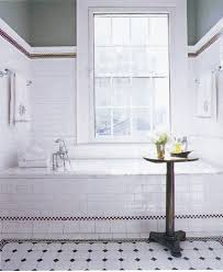 vintage flooring ideas with white brick wall tiles for amazing