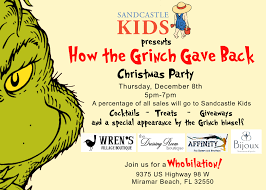 christmas cocktails invite how the grinch gave back