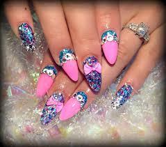 nail designs for long nails nail art