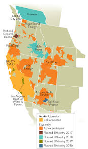 Western Us Map The Western U S Sub Hourly Wholesale Electricity Market Is