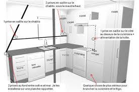 electricité cuisine electricite dans cuisine captivant hauteur des prises dans une