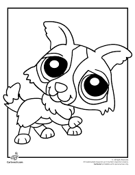 littlest pet shop coloring pages of dogs littlest pet shop coloring page puppy cartoon jr kallie