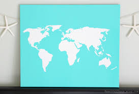 Diy World Map by World Diy Customize Map 20x24 Canvas Acrylic Painting Wall