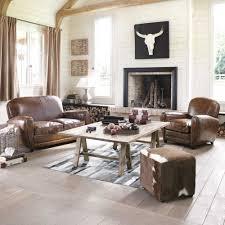 interiors canapé canapé vintage 2 places en cuir marron salons deco interiors and