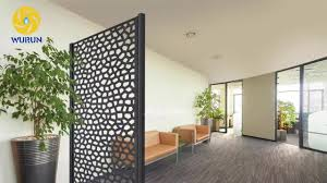 indoor decoration metal iron screen partition cheap laser cut room