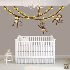 Monkey Wall Decals For Nursery by Hanging Monkey Wall Decal Monkey Nursery Decor Monkey Decal