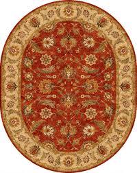 Red Oval Rug Jaipur Rugs My04 Mythos Wool Rug