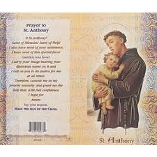 st anthony mini lives of the saints folded prayer card the