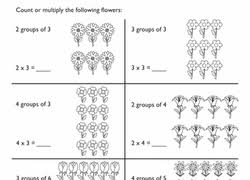 multiplication within 25 and rectangular arrays education com