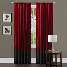 red and black curtains bedroom download page home design amazon com lush decor milione fiori curtain panel pair 84 inch