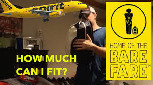 spirit baggage fees spirit airlines bare fare free carry on how much can you fit