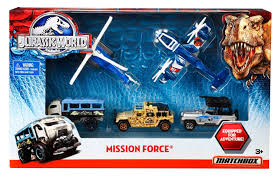 Matchbox Jurassic Park World Toy Mission Force Vehicle 5 Pack