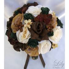 camo flowers brown ivory green camo bouquets corsages boutonnieres