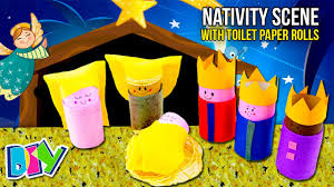 how to make a nativity scene with toilet paper rolls easy