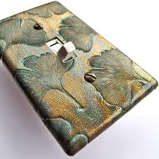 craftsman style light switches bronze ginkgo light switch plate by wallcakes interior design