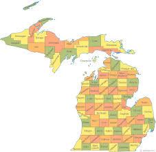 map of michigan lakes map of michigan
