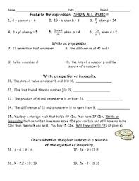 translating verbal expressions into algebraic expressions worksheets this quiz has 8 problems on evaluating expressions 4 on writing