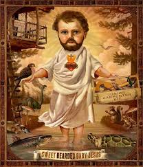 Baby Jesus Meme - sweet bearded baby jesus zack hunt