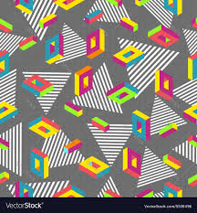 retro 80s seamless pattern background royalty free vector
