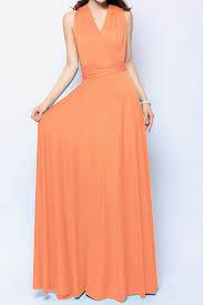light orange maxi convertible dress infinity bridesmaid dress lg