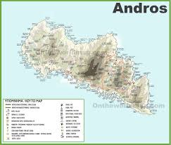 Corinth Greece Map andros maps greece maps of andros island