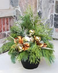 outdoor christmas planter christmas outside arrangements