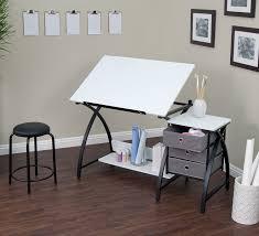 Drafting Table Storage Amazon Com Studio Designs 13326 Comet Center With Stool Black White