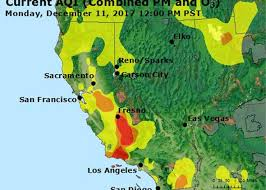 Ojai California Map The California Wildfires Are Spreading Dangerous Air Particles