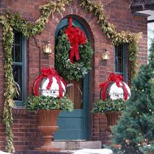 Christmas Outdoor Decorations Cheap by Front Porch Christmas Decorating Ideas Pictures Beautiful