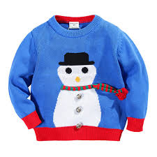 toddler boys sweater snowman knitted boys cardigan baby