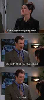 High Five Meme - david loves the high five and elaine does not on seinfeld