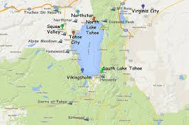 Las Vegas Zip Code Map Guide To Planning A Lake Tahoe California Vacation
