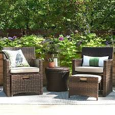 patio halsted 5 piece wicker small space patio furniture set