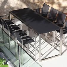 Patio High Table And Chairs Ninix Outdoor Bar Height Table And Stool Contemporary Patio
