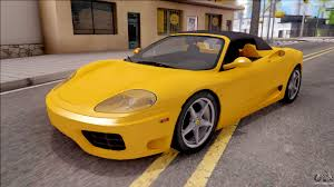 ferrari yellow car ferrari for gta san andreas