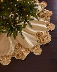 gold tree skirt seybert trevi christmas tree skirt