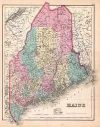 State Of Maine Map by The Family History Guide