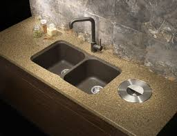 Undermount Kitchen Sink With Faucet Holes Sinks Cream Granite Double Bowl Undermount Kitchen Sink In Cafe