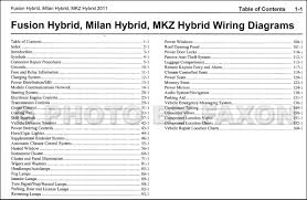 2011 hybrid ford fusion mercury milan lincoln mkz wiring diagram