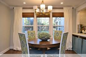 breakfast room curtains u2013 stripes or trellis