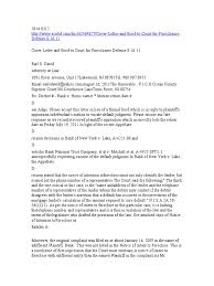 cover letter and brief to court for foreclosure defense 8 16 11
