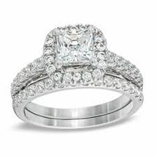 interlocking engagement ring wedding band bridal sets wedding zales