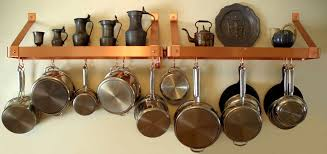 Kitchen Cabinet Pot Organizer How To Make A Hanging Pot Rack Ebay