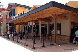 news and photo tour the downtown disney marketplace starbucks is