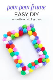 easy diy pom pom picture frame
