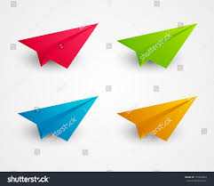 color paper set color paper airplanes stock vector 157294853 shutterstock