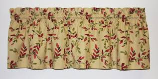 Vintage Green Curtains Vintage Vine Print Tailored Valance Window Curtain Window Toppers