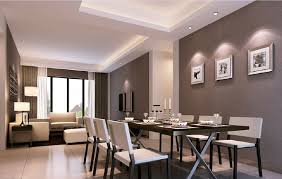 minimalist style living room dining room interior 3d rendering